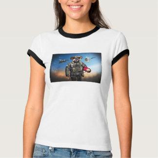 Camiseta Cão piloto, buldogue engraçado, buldogue