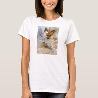 Camiseta cão pomeranian bonito