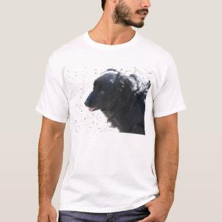 Camiseta cão preto brilhante
