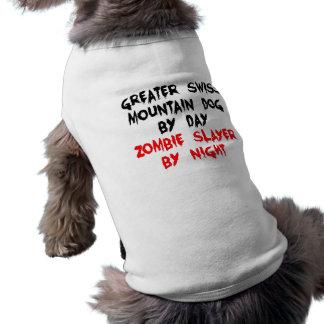 Camiseta Cão suíço da montanha do assassino do zombi maior
