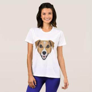 Camiseta Cão Terrier de sorriso da ilustração