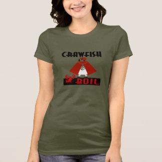 Camiseta Capa de equitação da fervura dos lagostins