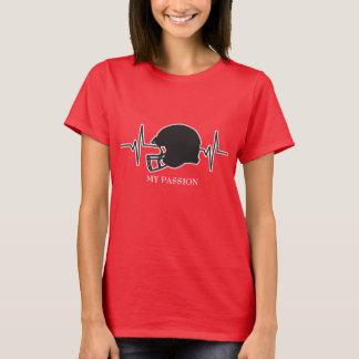Camiseta Capacete de futebol - minha pulsação do coração da