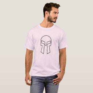 Camiseta Capacete espartano - o t-shirt básico dos homens
