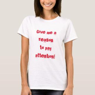 Camiseta Capacidade de concentração curta engraçada ADHD