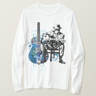 Camiseta capas longas do tshirt da música do homem da