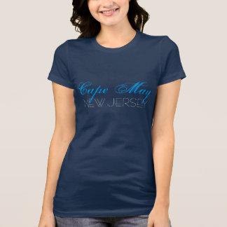 Camiseta Cape May costume azul e branco de New-jersey