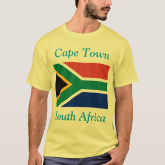 Camiseta Cape Town, África do Sul com sul - bandeira