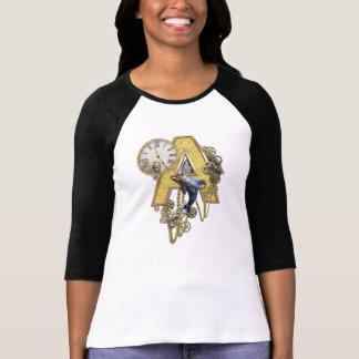 Camiseta capital-letra A do Alfabeto-monograma