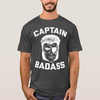 Camiseta Capitão Badass Carvão vegetal Urze T-shirt