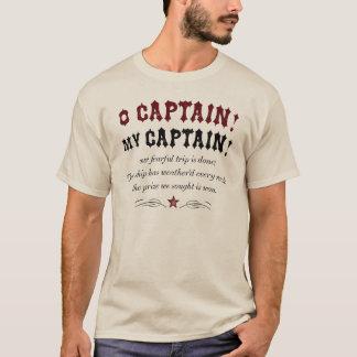 Camiseta Capitão de O! Meu capitão! - Estilo do vintage