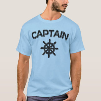 Camiseta Capitão do barco com roda dos navios
