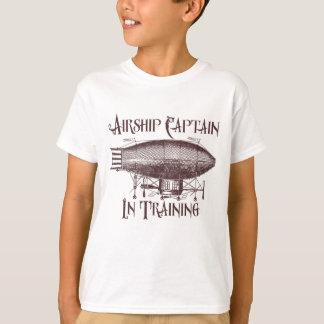Camiseta Capitão do dirigível no treinamento, Steampunk