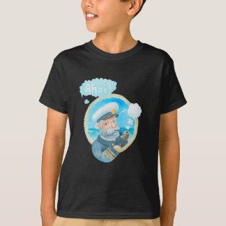 Camiseta Capitão naval Miúdo T-shirt de Ahoi
