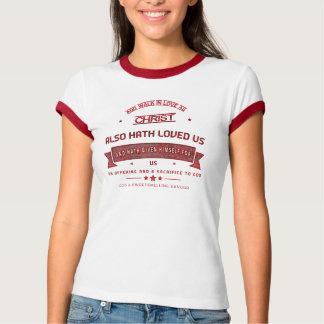 Camiseta Capítulo 5 de Ephesians e caminhada no amor