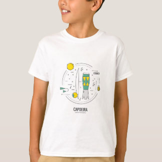 Camiseta Capoeira Brasil - instrumentos musicais Brasil