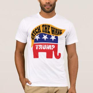 Camiseta Captura de Donald Trump a onda - cabelo do
