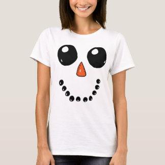 Camiseta Cara 3 do boneco de neve