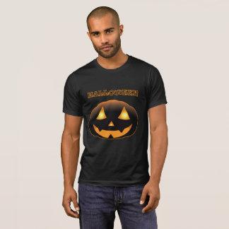Camiseta Cara assustador da abóbora do Dia das Bruxas