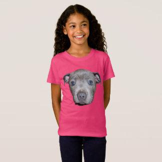 Camiseta Cara azul do filhote de cachorro de Staffordshire