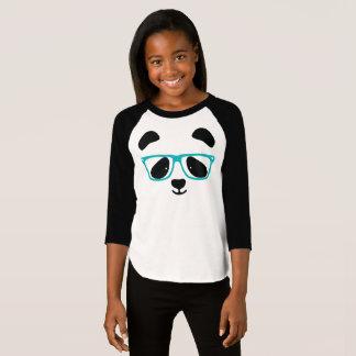 Camiseta Cara bonito da panda com vidros