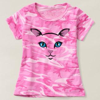Camiseta cara bonito do gato