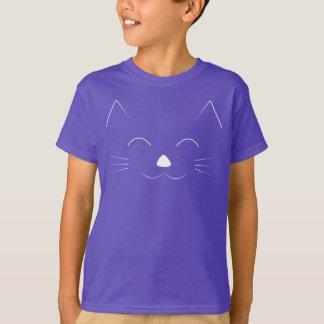 Camiseta Cara bonito do gato - branco