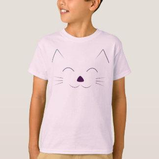 Camiseta Cara bonito do gato - roxo