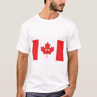 Camiseta Cara canadense da folha de bordo