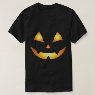 Camiseta Cara da abóbora da Jack-O-Lanterna do Dia das