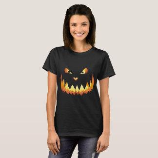Camiseta Cara da abóbora para o Dia das Bruxas…