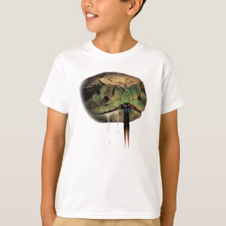 Camiseta Cara da mordida do veneno do cobra
