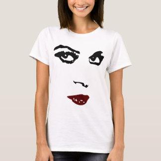 Camiseta Cara da mulher, desenho de carvão vegetal