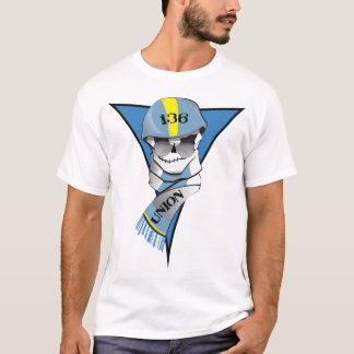 Camiseta Cara de 136 capacetes! (Cor completa na luz T)