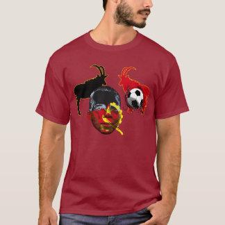 Camiseta Cara de Angola 2010 de presentes do copo do