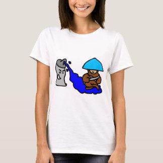 Camiseta Cara de flutuação da pintura pistola