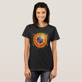 Camiseta Cara de lua total do eclipse solar