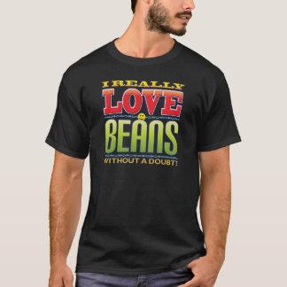 Camiseta Cara do amor dos feijões