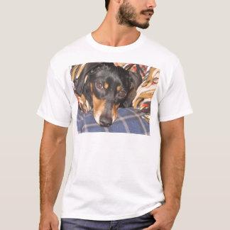 Camiseta Cara do cão de Daschund Weener