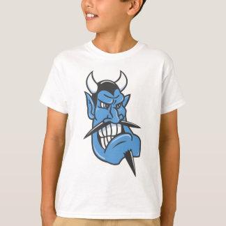 Camiseta Cara do diabo azul