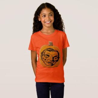 Camiseta Cara do vampiro da lanterna do o de Jack, abóbora