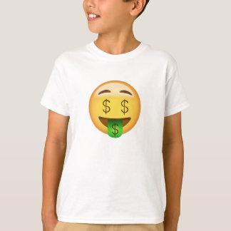 Camiseta Cara Emoji da Dinheiro-Boca