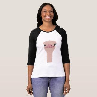 Camiseta Cara engraçada da avestruz