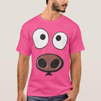 Camiseta Cara engraçada do porco