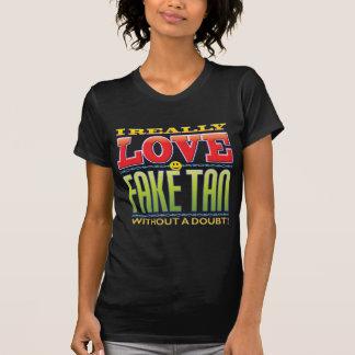Camiseta Cara falsificada do amor de Tan