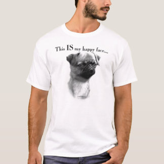 Camiseta Cara feliz de Bruxelas Griffon