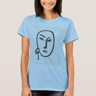 Camiseta Cara & flor
