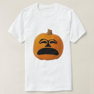 Camiseta Cara infeliz da lanterna do o de Jack, abóbora do