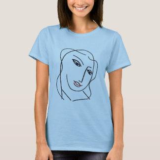 Camiseta Cara no azul