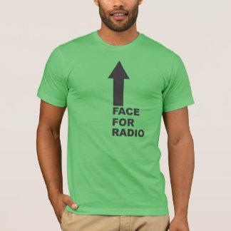 Camiseta Cara para o rádio